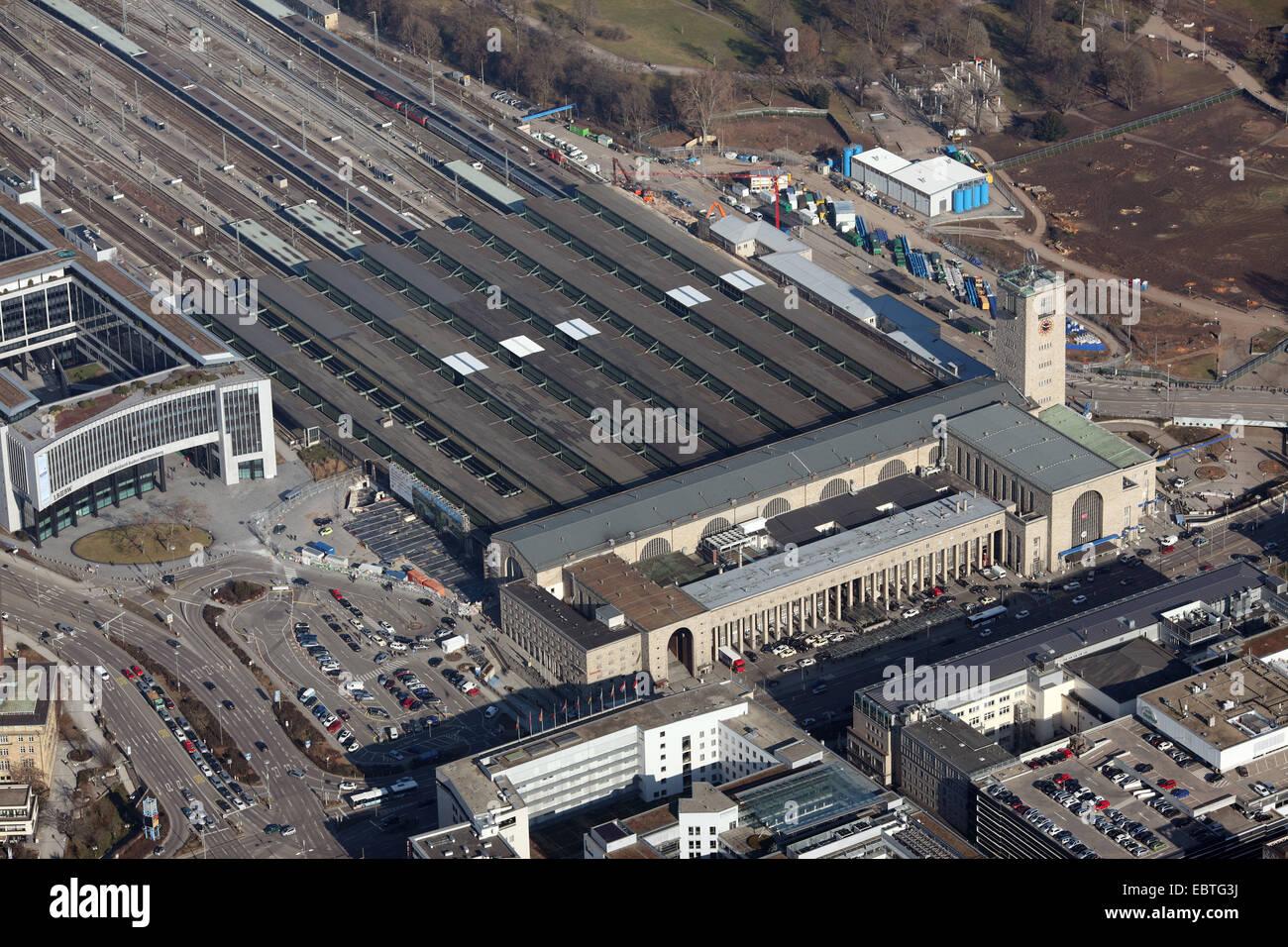 Stuttgart main station, Germany, Baden-Wuerttemberg, Stuttgart - Stock Image