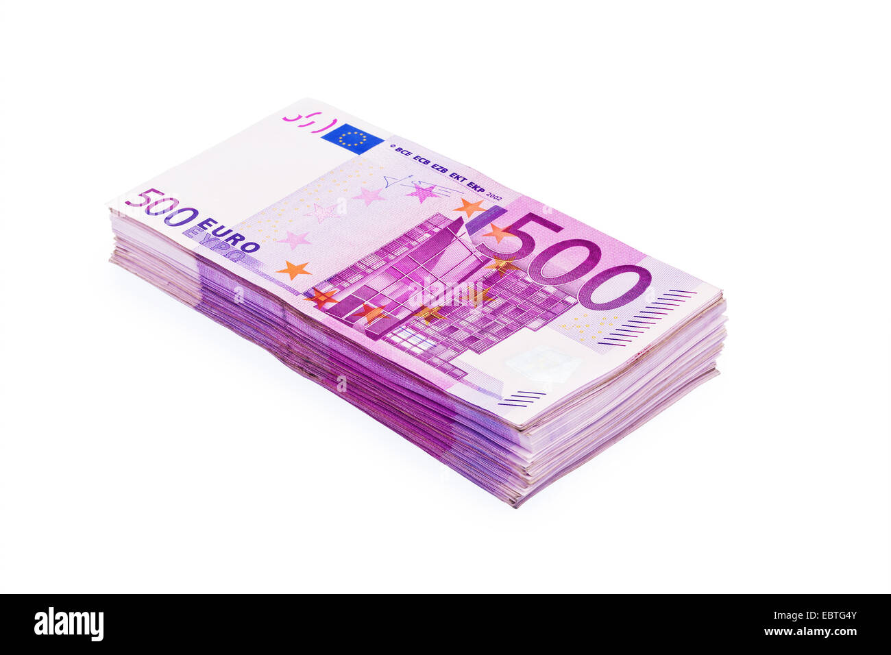 wad of 500 banknotes - Stock Image