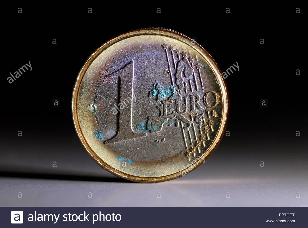 moulded euro coin - Stock Image