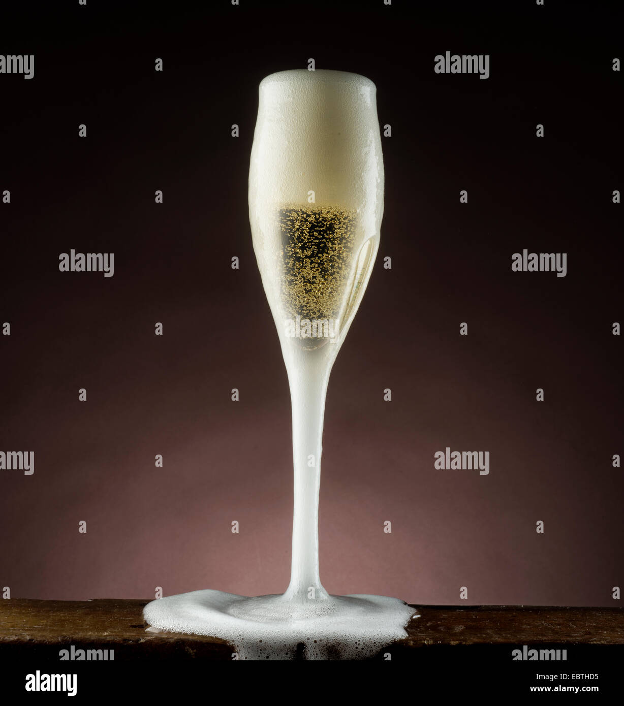 champagne glass - Stock Image