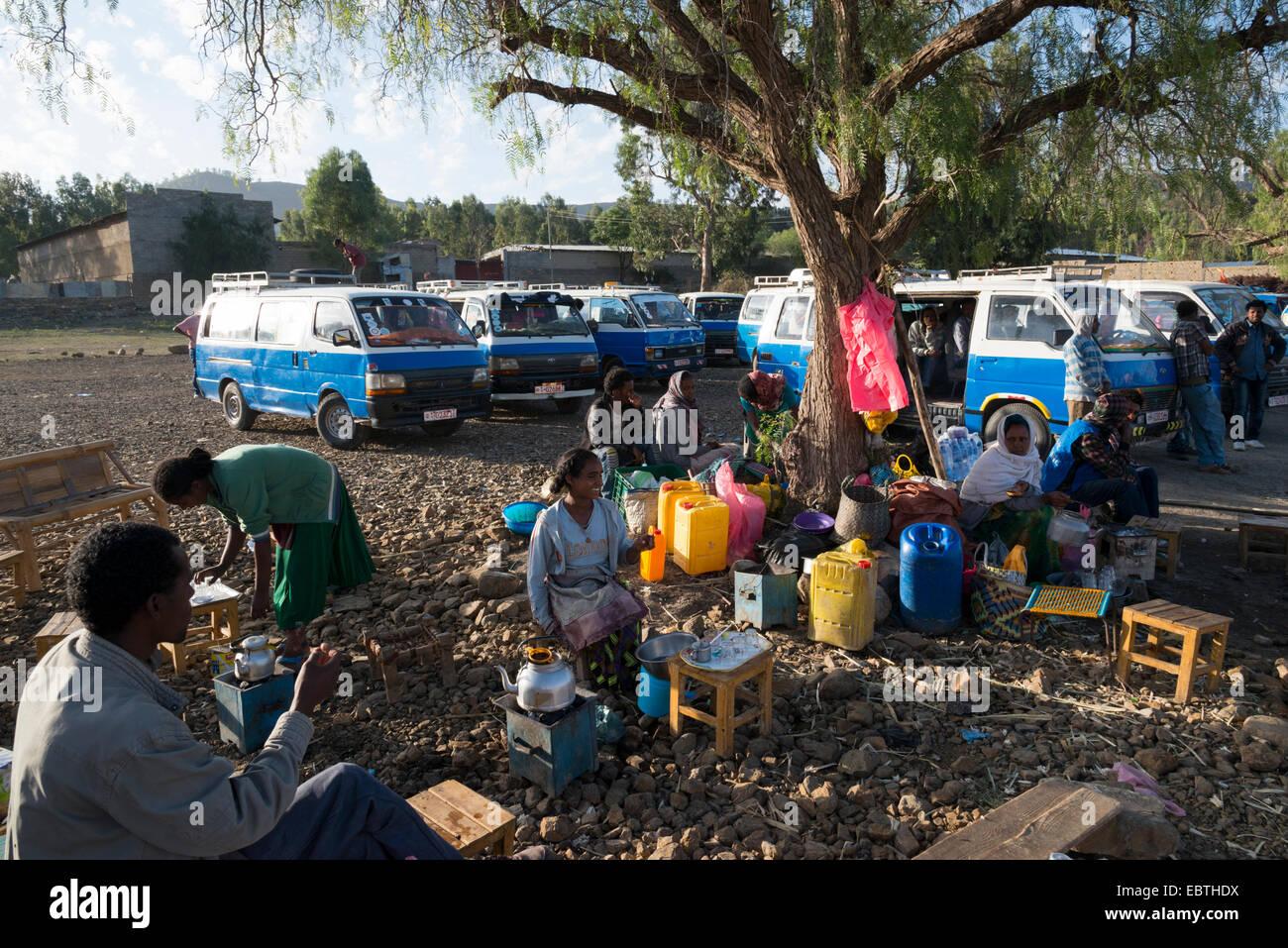 Minibus station. Mekele. Northern Ethiopia. - Stock Image