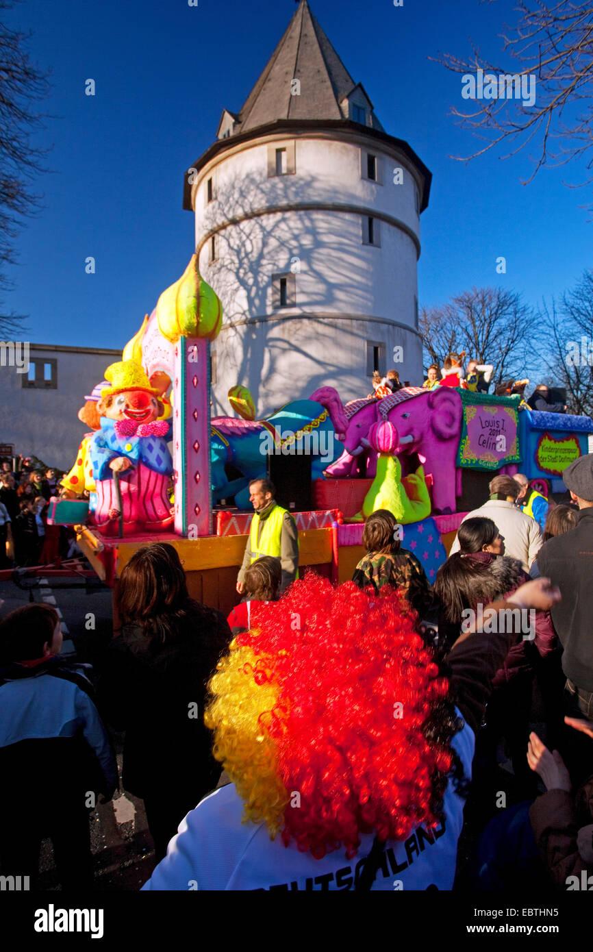 carnival near Adlerturm Dortmund, Germany, North Rhine-Westphalia, Ruhr Area, Dortmund - Stock Image