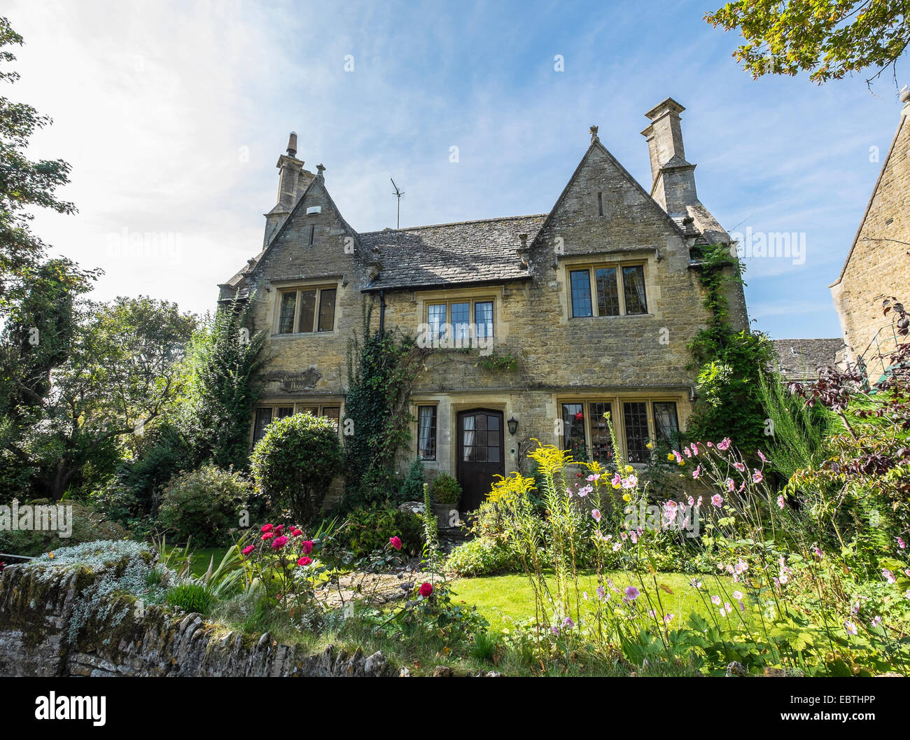 Riverside House Bourton-on-the-Water Cotswolds village Gloucestershire Stock Photo