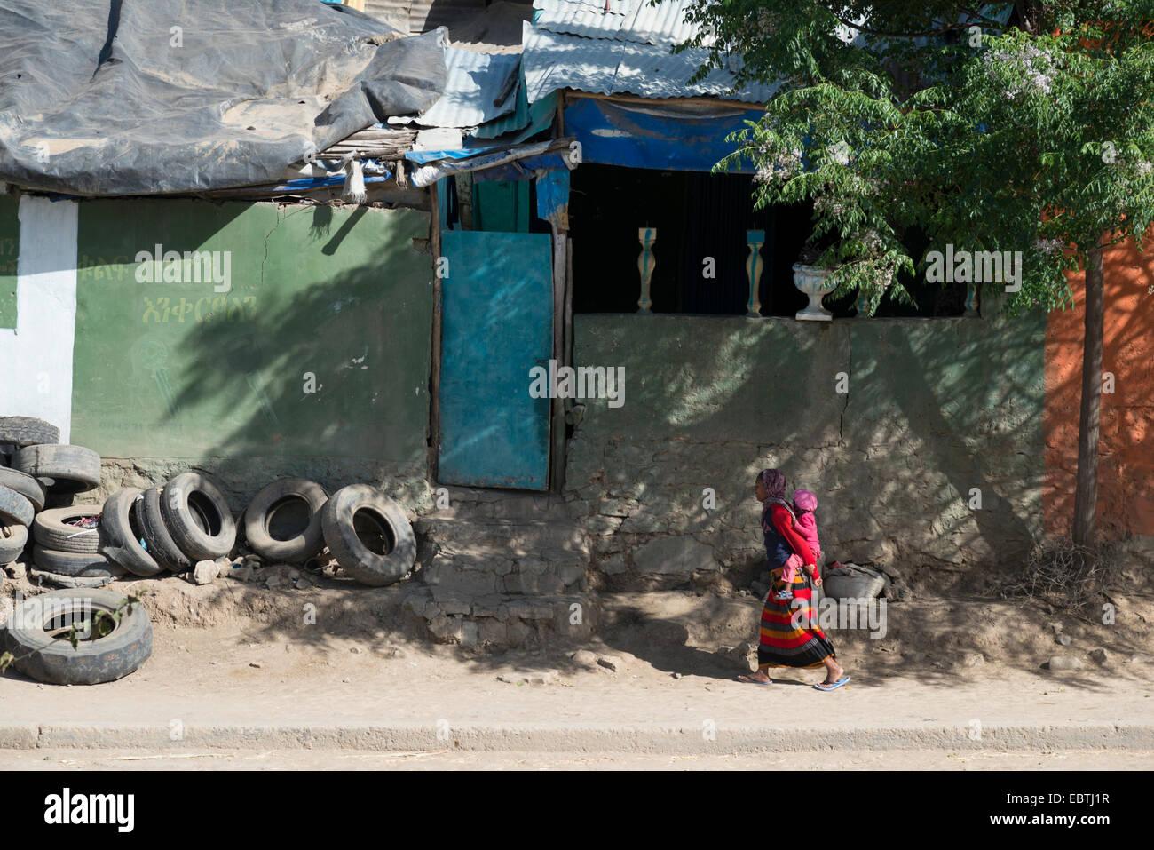 Street scene. Mekele. Northern Ethiopia. - Stock Image