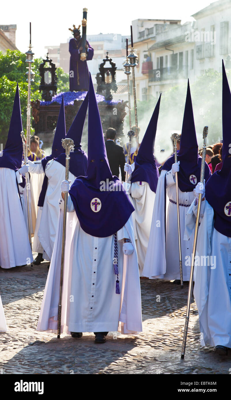 procession as the highlight of the Holy Week in Spain, the 'Semana Santa', Spain, Andalusia - Stock Image