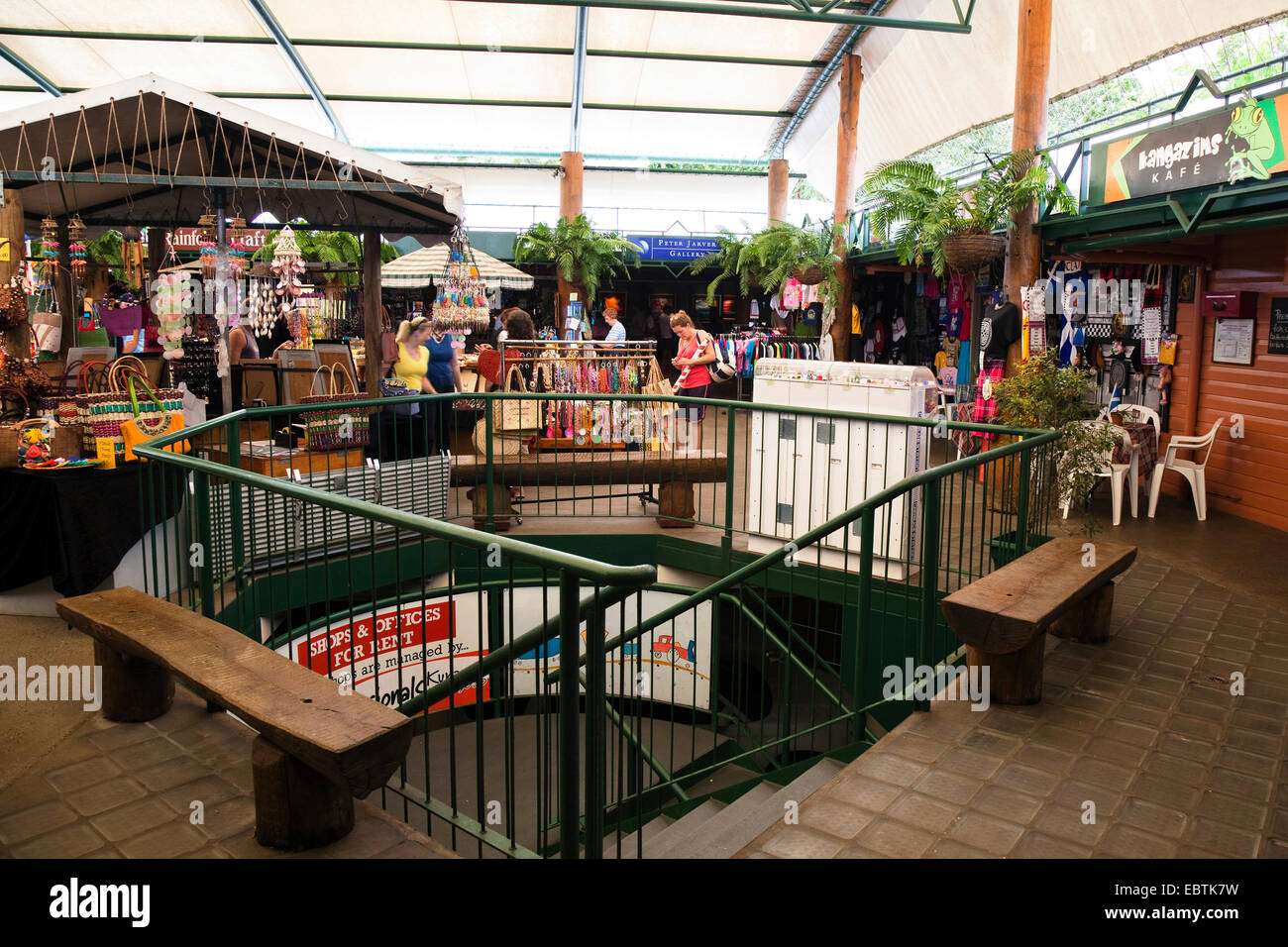 Kuranda Original Rainforest Markets, Australia, Queensland - Stock Image