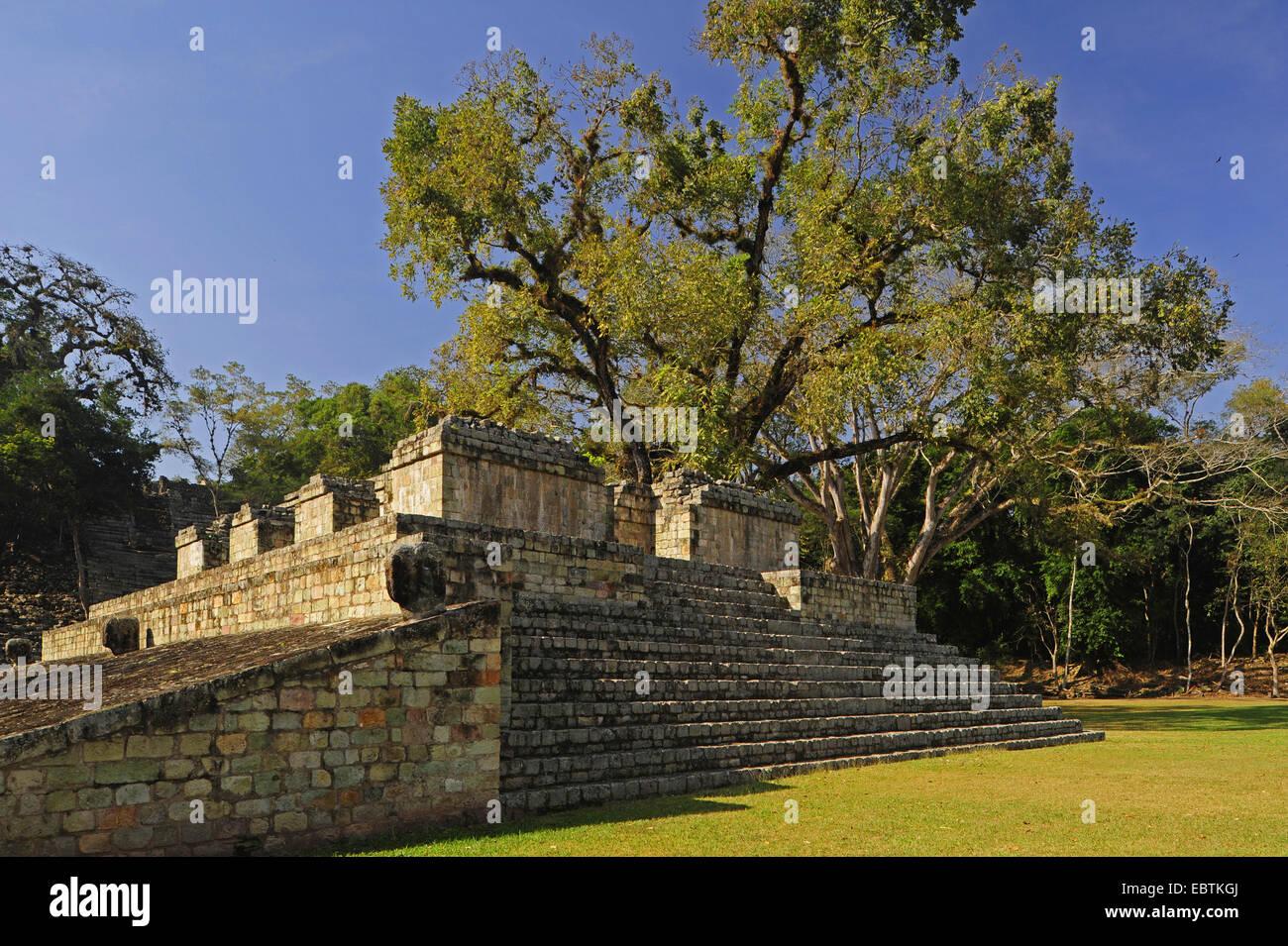 Mayan temple , Honduras, Copan - Stock Image