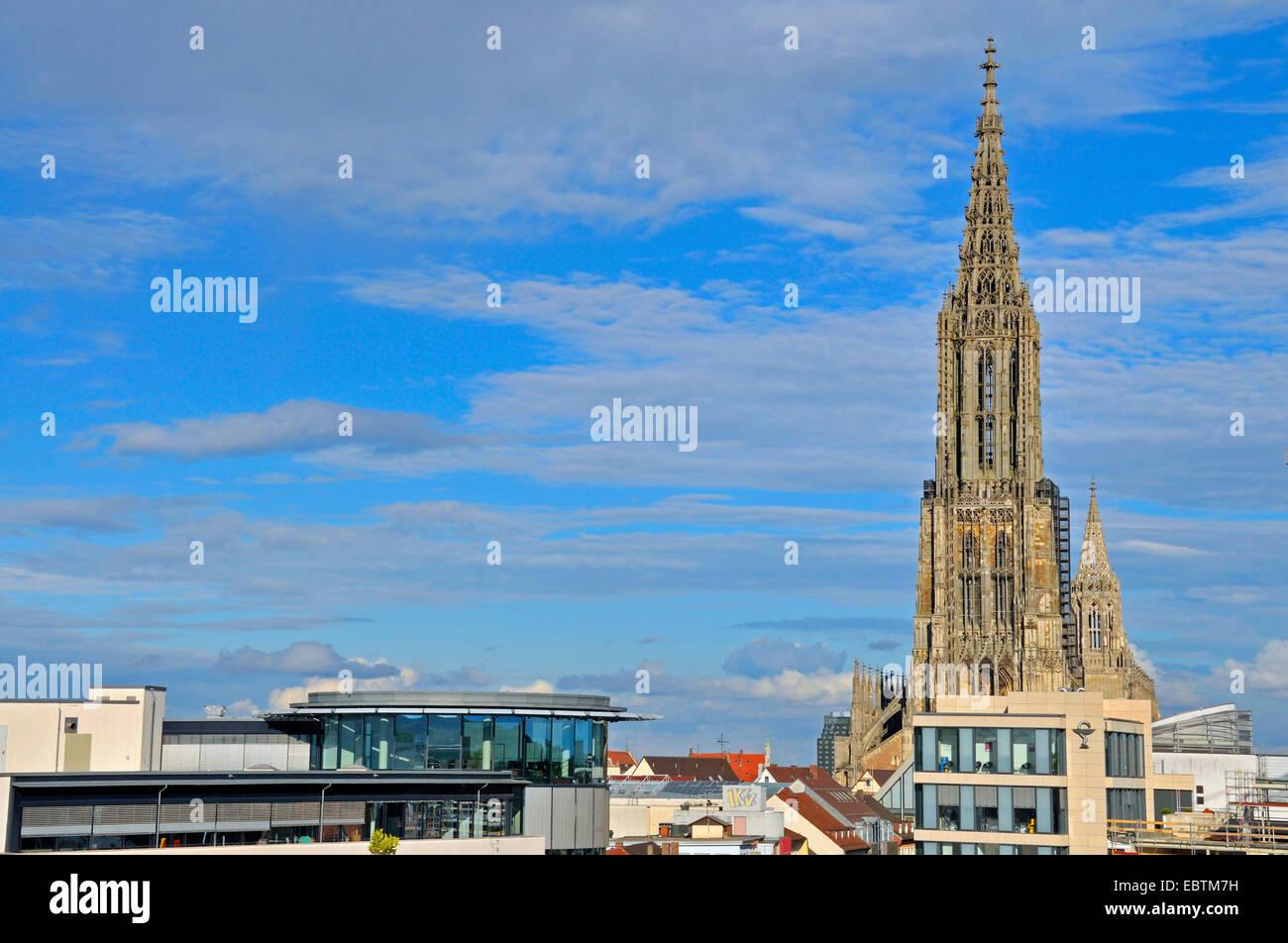 Ulm Minster, tallest church in the world, Germany, Baden-Wuerttemberg, Ulm Stock Photo