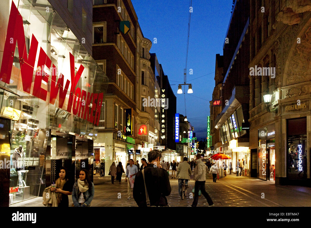 main shopping mile westenhellweg in the city of dortmund in the stock photo 76145503 alamy. Black Bedroom Furniture Sets. Home Design Ideas
