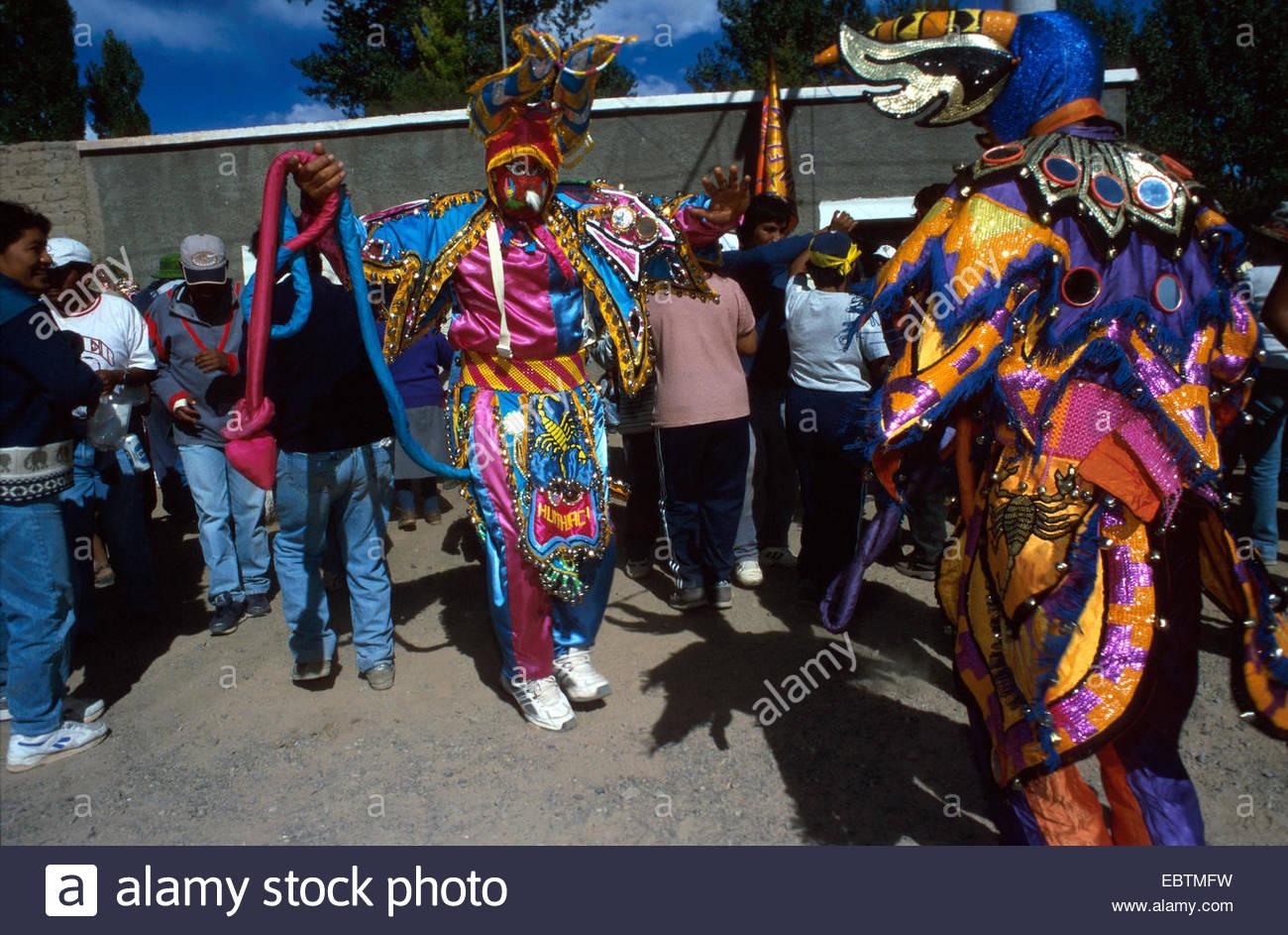 Carnival festivities at Humahuaca - Stock Image