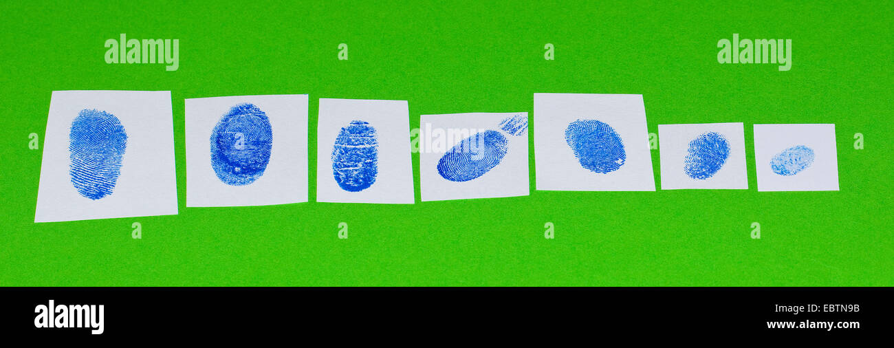 fingerprint fixed with the ink of a stam pad - Stock Image