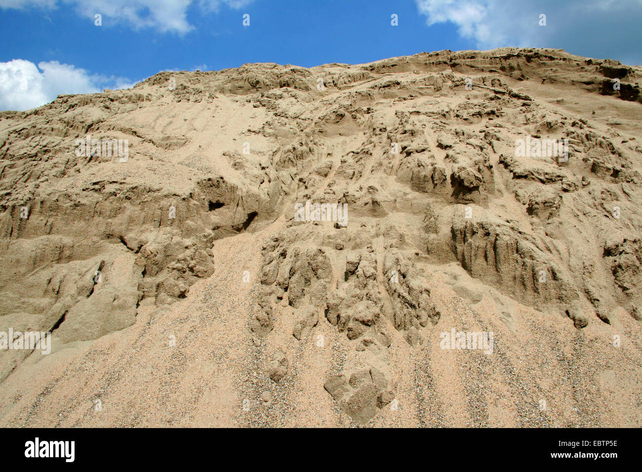 pile of sand for civil engineering, Germany, North Rhine-Westphalia - Stock Image