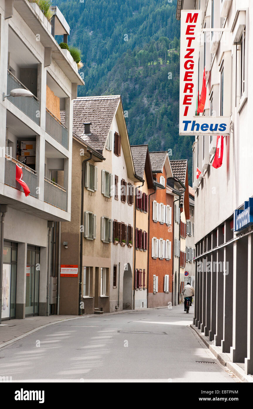 Village scenes in Domat/Ems, Switzerland, Domat/Ems - Stock Image