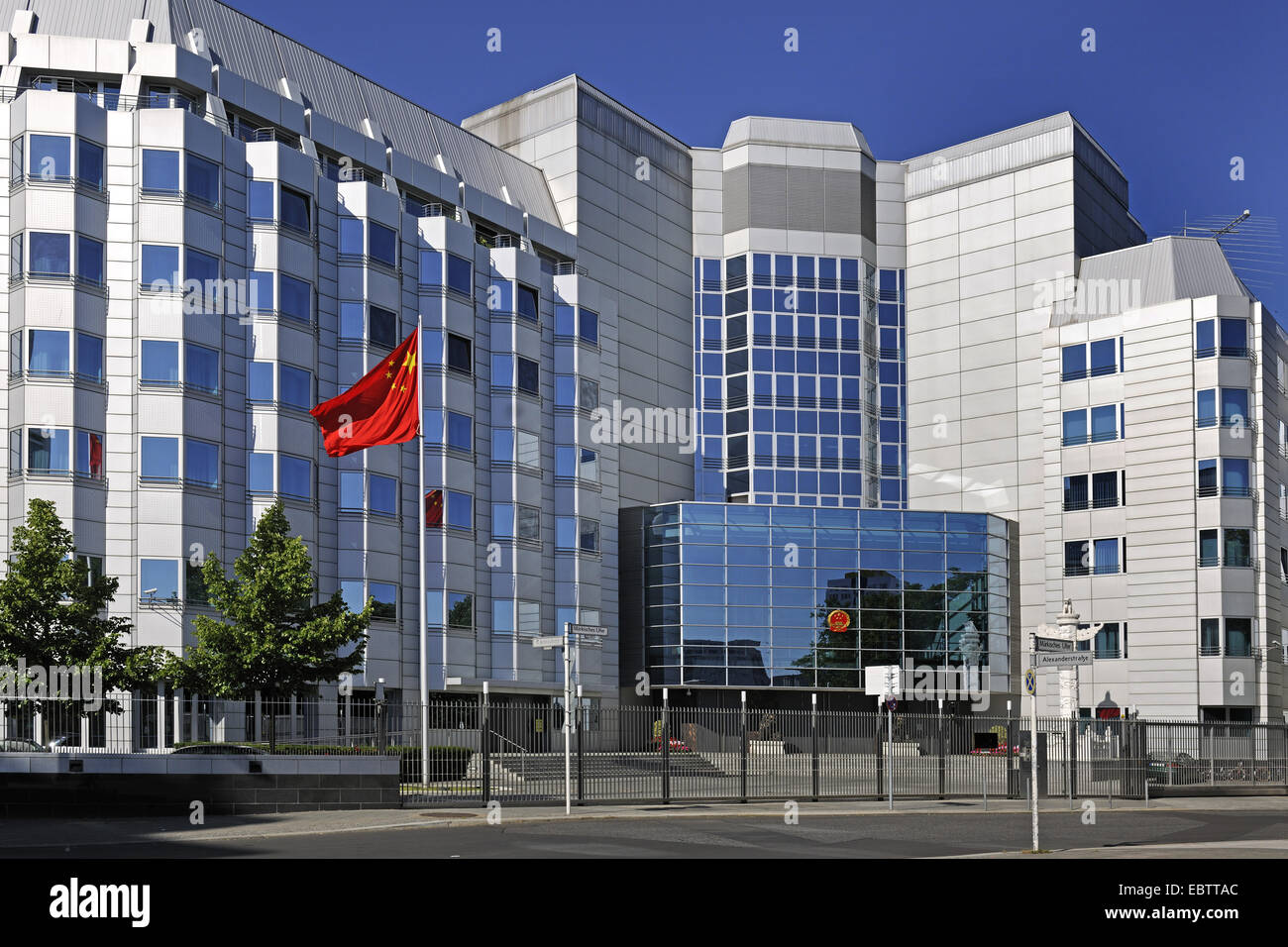 embassy of People's Republic of China, Germany, Berlin - Stock Image