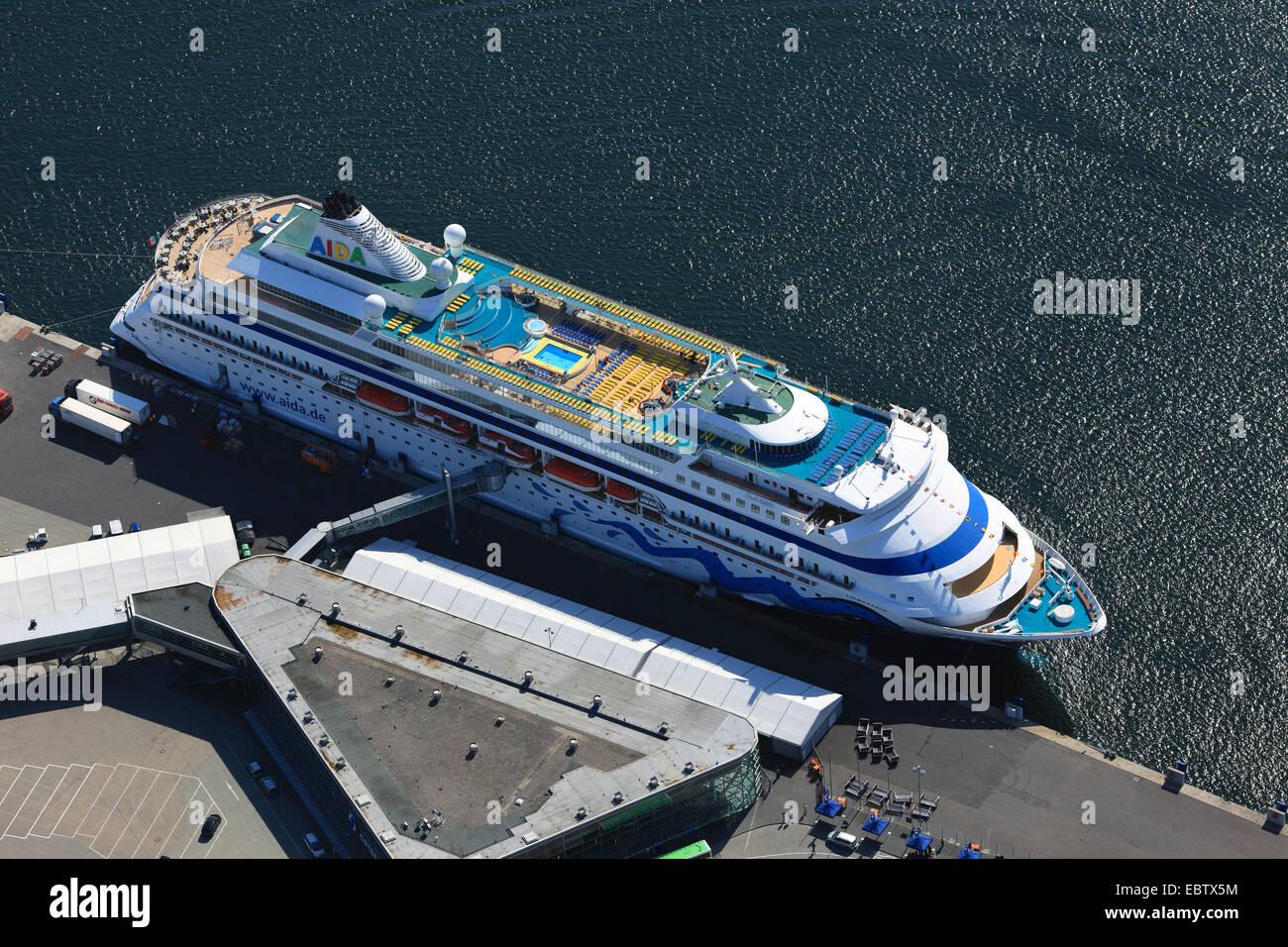 cruise ship Aida Cara, Germany, Kiel - Stock Image