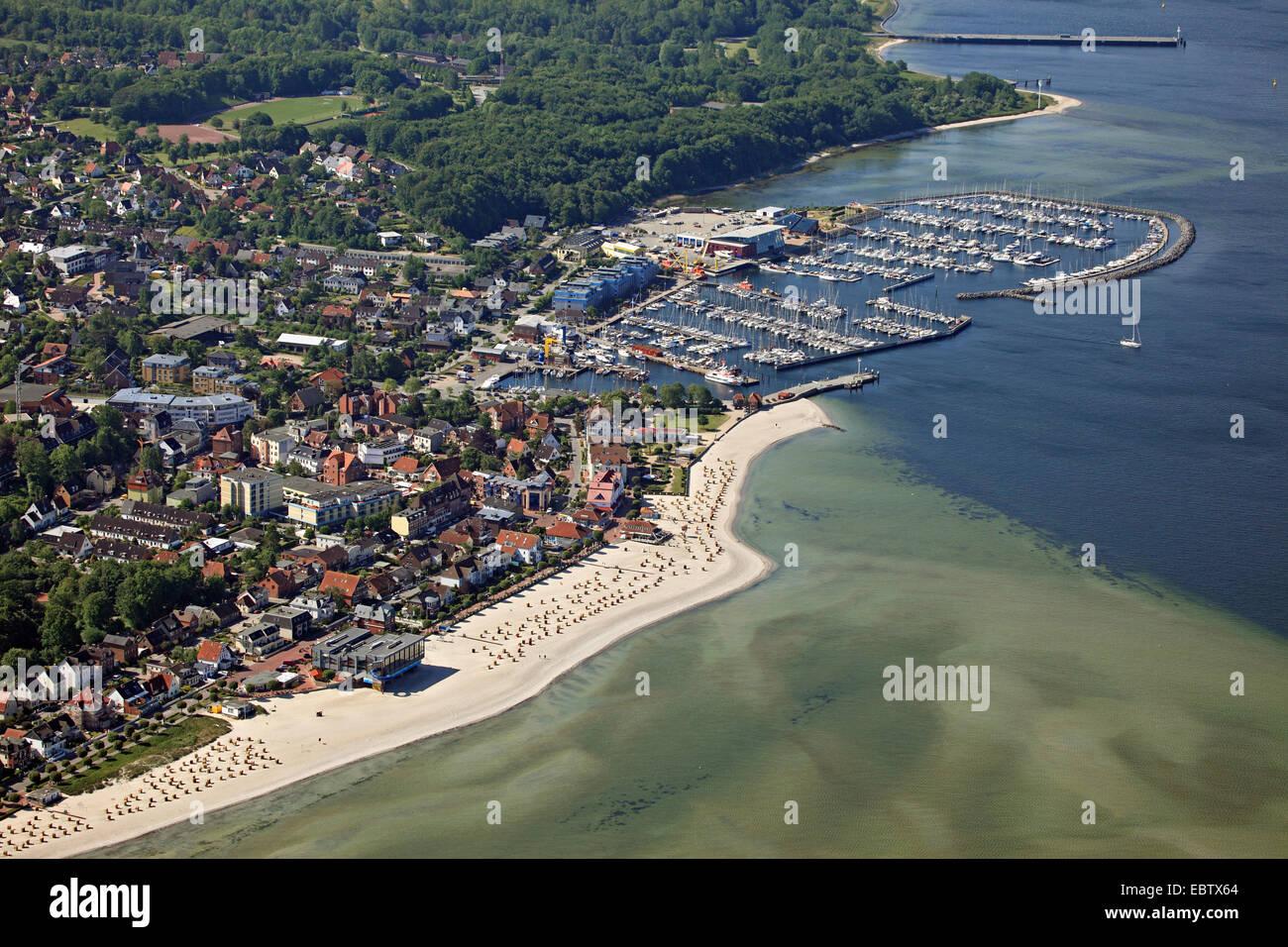 beach and marina of Laboe, Germany, Kiel - Stock Image