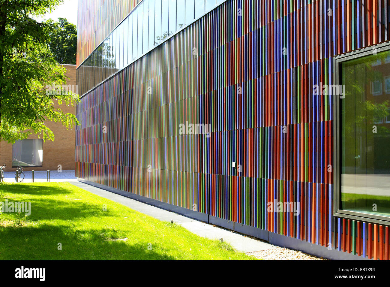 colourful ceramic facade of the museum brandhorst for modern and stock photo 76150195 alamy. Black Bedroom Furniture Sets. Home Design Ideas