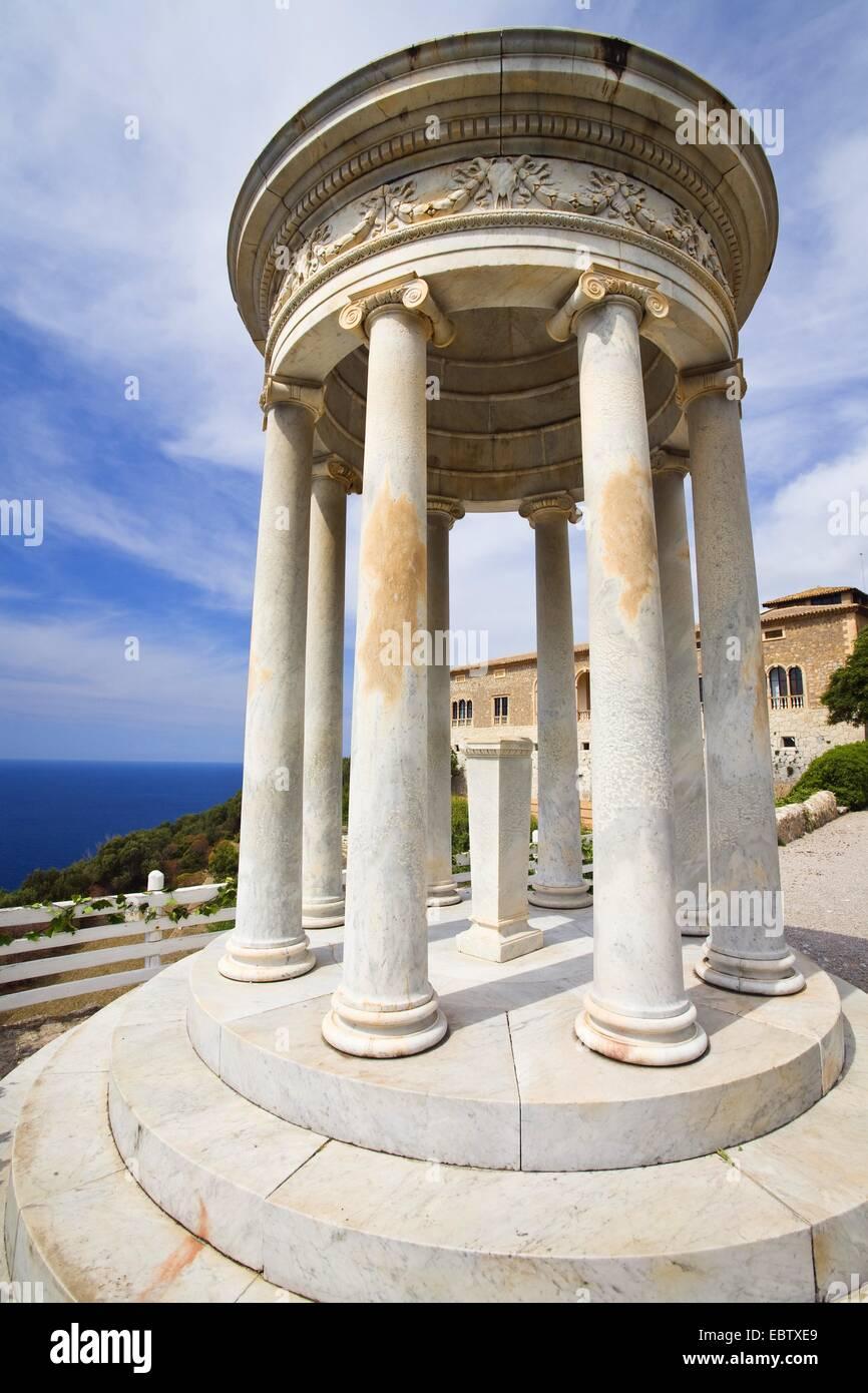 Son Marroig, manor house with ionic temple, Spain, Balearen, Majorca, Sierre de Tramuntana - Stock Image