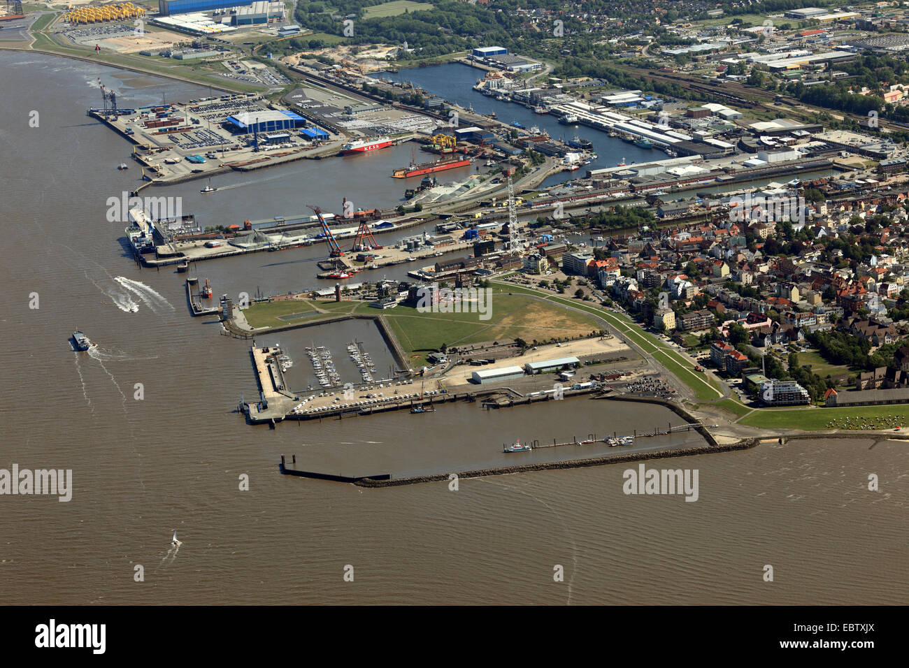 port of Cuxhaven, Germany, Lower Saxony, Cuxhaven - Stock Image