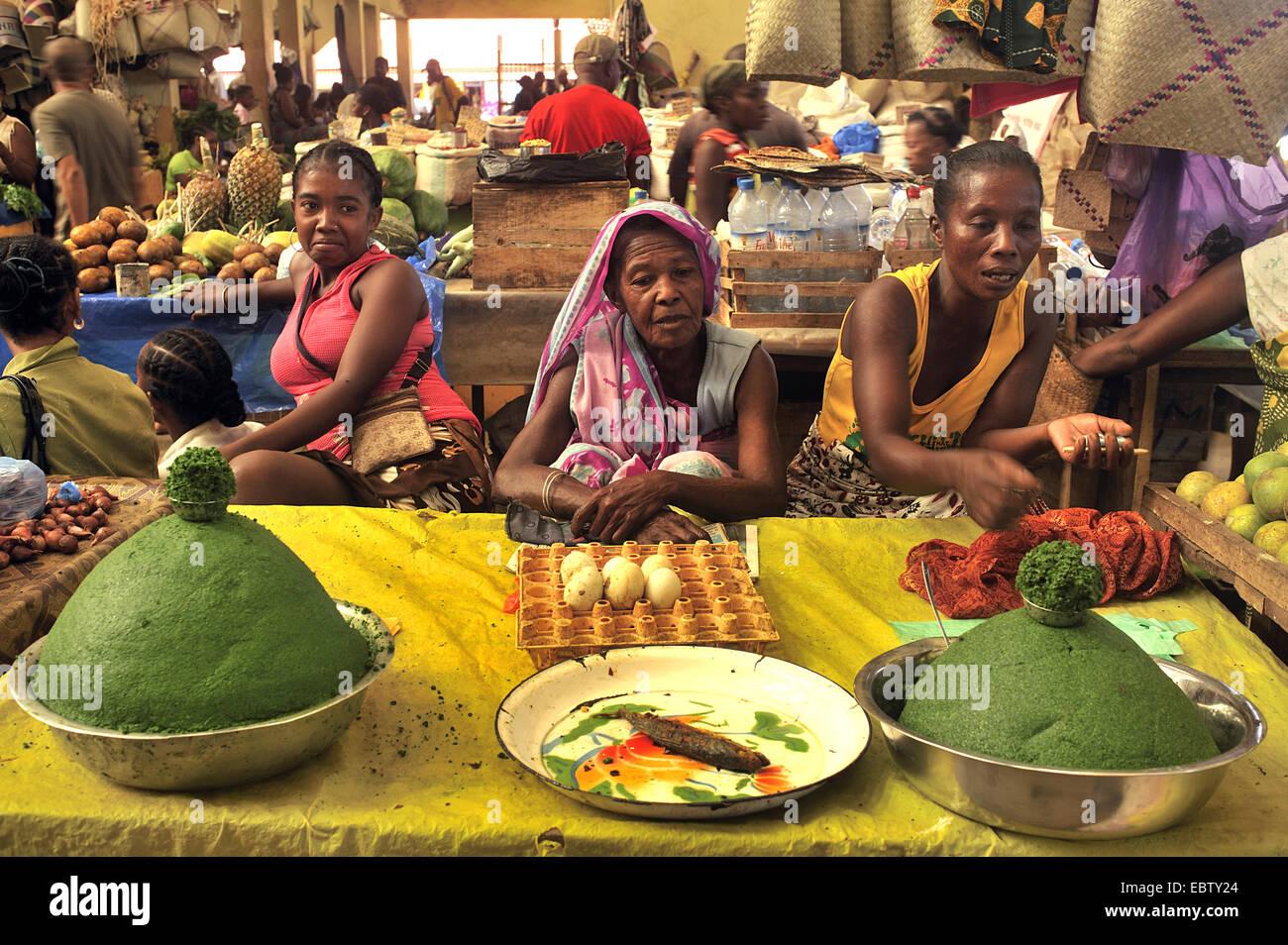 market scene, Madagascar, Andoany, Hell Ville - Stock Image