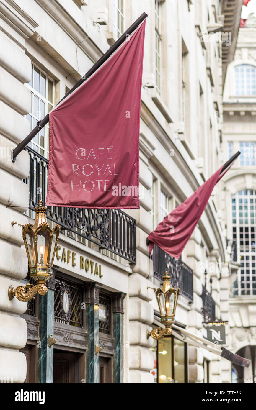Hotel Cafe Royal is a luxury hotel on Regent Street, London. - Stock Image