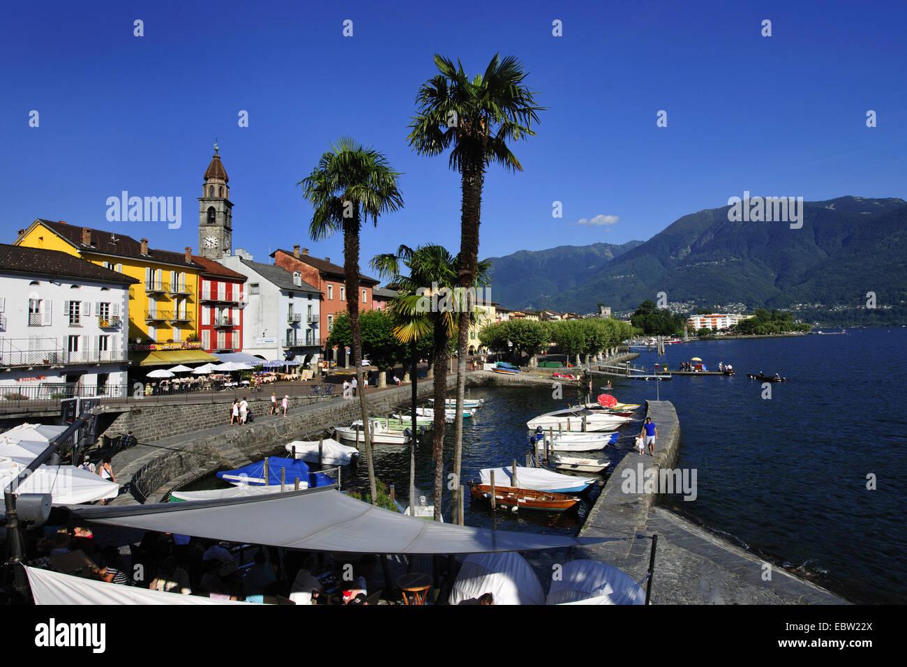 ascona at lago maggiore switzerland ticino ascona stock. Black Bedroom Furniture Sets. Home Design Ideas