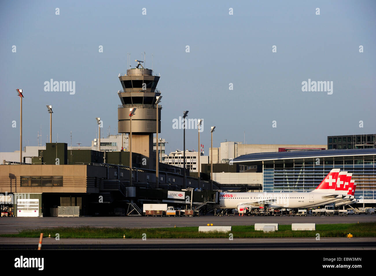 Zurich airport, Switzerland, Zurich - Stock Image