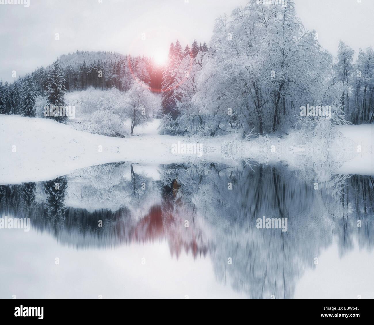 DE - BAVARIA: Winter Wonderland Stock Photo