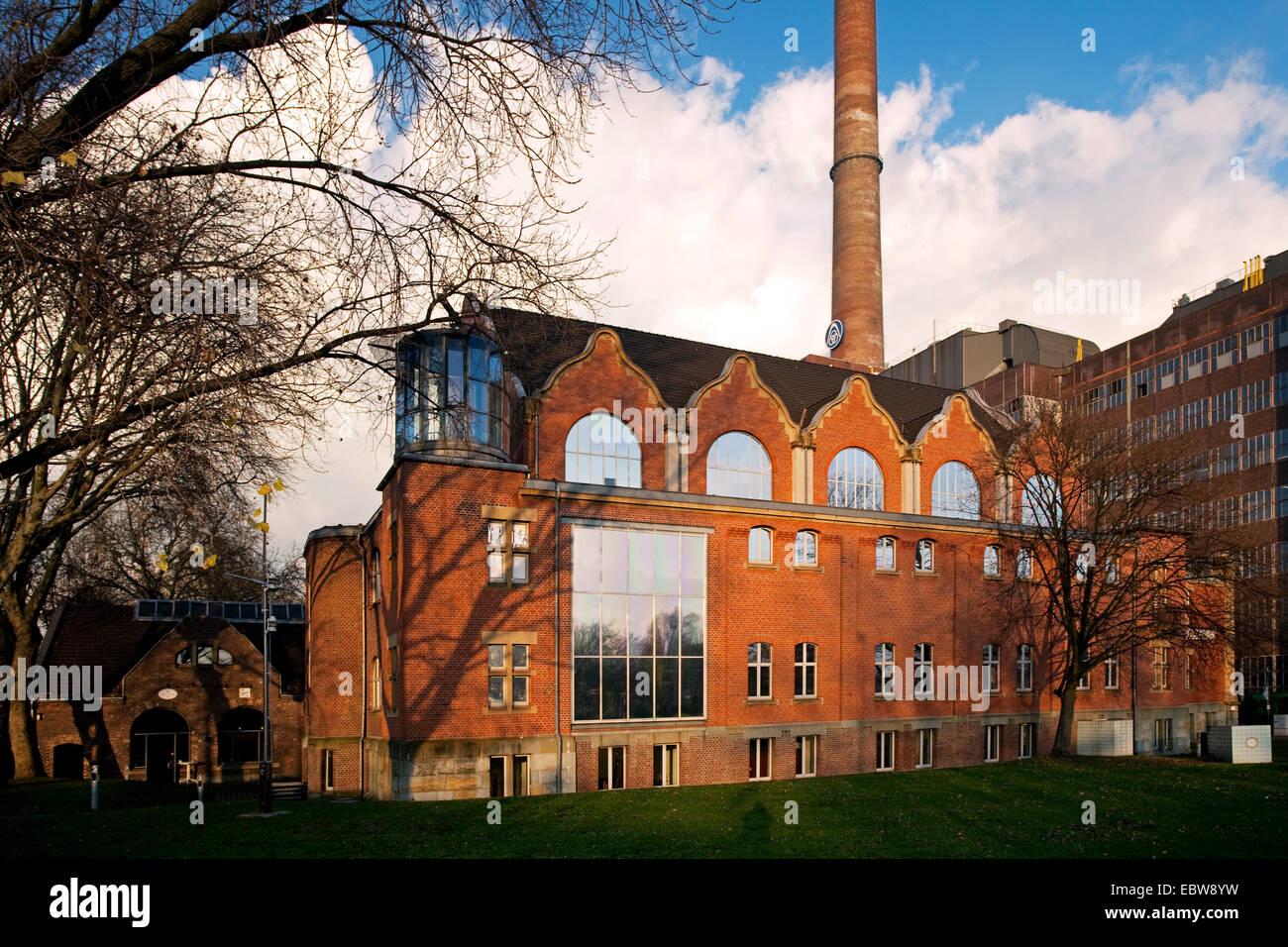 art nouveau facade of German Inland Waterways Museum, Germany, North Rhine-Westphalia, Ruhr Area, Duisburg - Stock Image