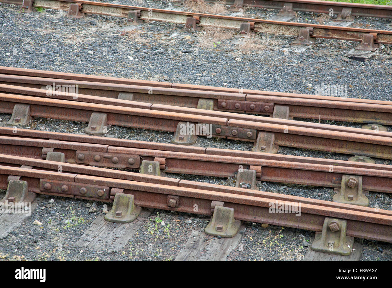 Points on railway lines - Stock Image