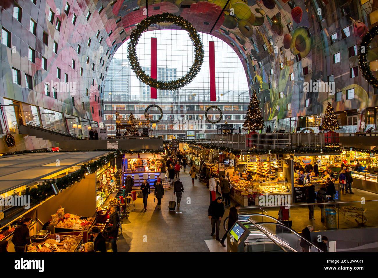 The New Market Hall In Rotterdam Restaurants Food Shops Market Stock Photo 76159973 Alamy