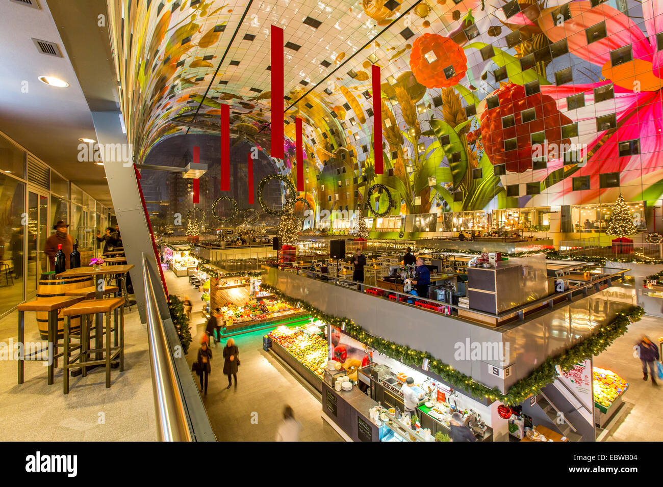 the new market hall in rotterdam restaurants food shops market stock photo 76160116 alamy. Black Bedroom Furniture Sets. Home Design Ideas