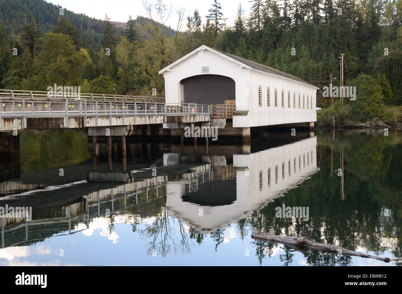 Lowell Covered Bridge, Oregon, USA - Stock Image