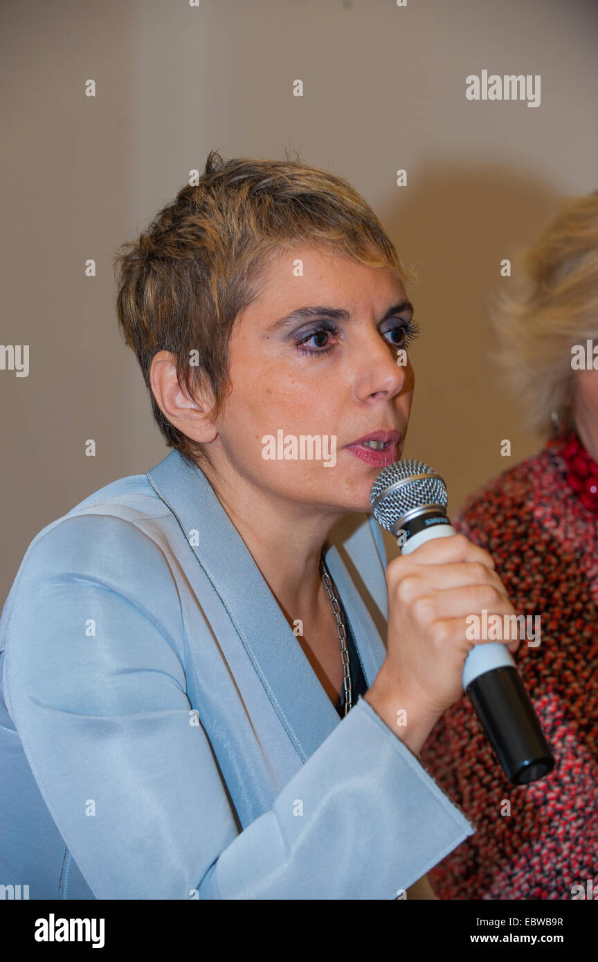 inauguration of the new 'Galleria sabauda' to complete the 'Polo Reale in Turin' speaks Edith Gabrielli - Stock Image