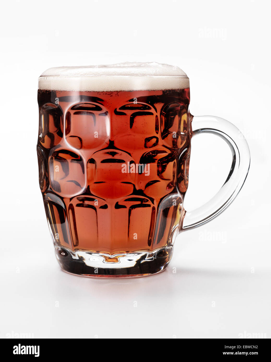 A pint of British best bitter beer. - Stock Image