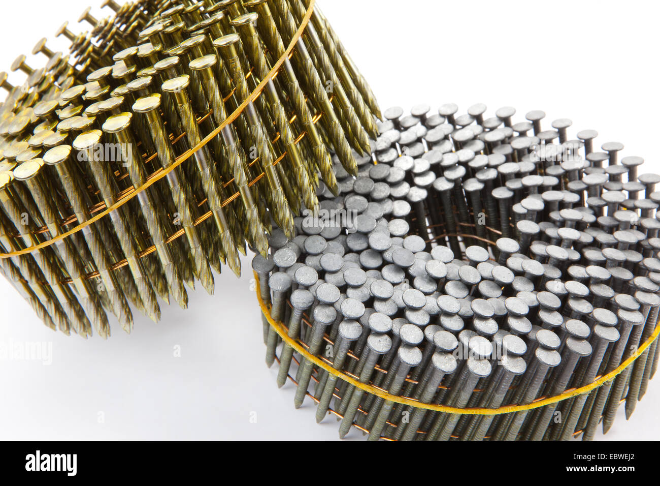 Hardware nail gun nails in coil pack bundle, for compressed air nail ...