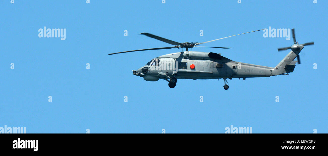 GOLD COAST, AUS - NOV 10 2014:Australian sea search and rescue helicopter. - Stock Image