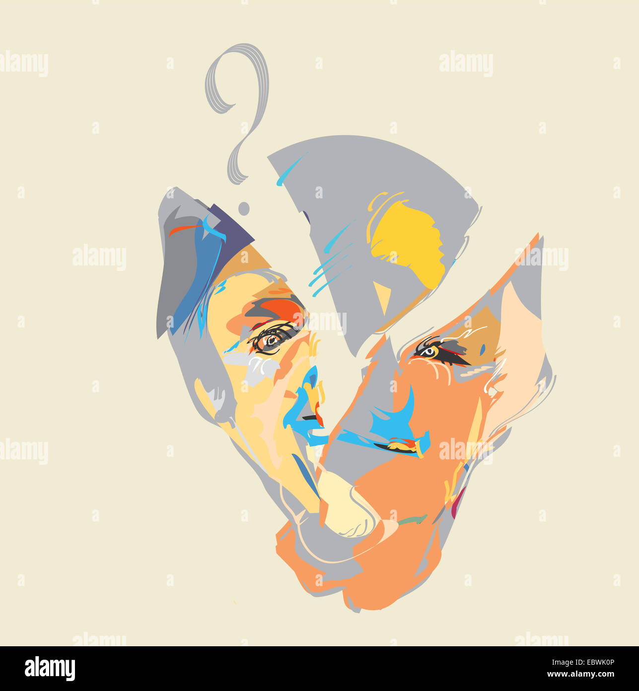 Head and Question - Stock Image