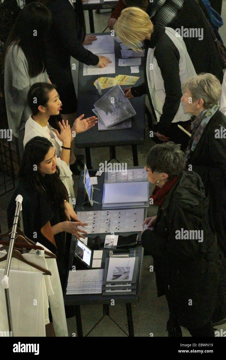 Vancouver Canada 4th Dec 2014 Fashion Design Students Present Stock Photo Alamy