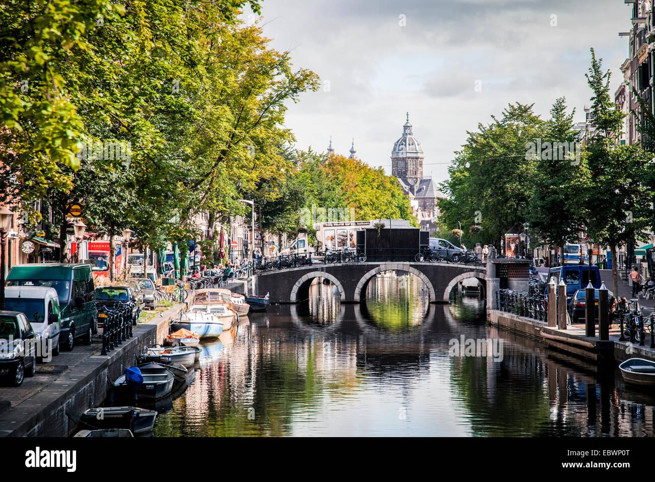canal in jordaan district  jordaan  amsterdam  province of