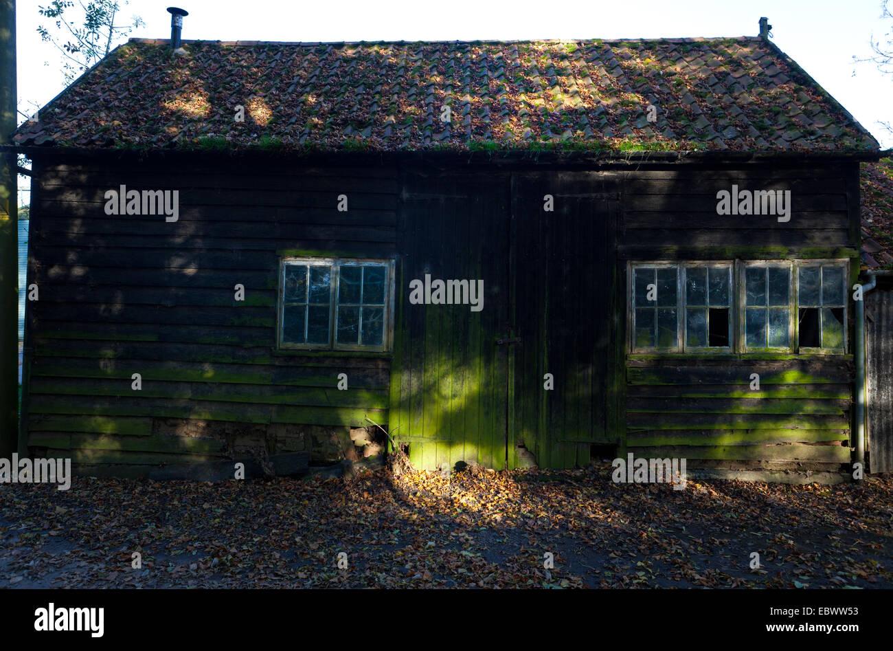 old barn at suffolk, uk - Stock Image