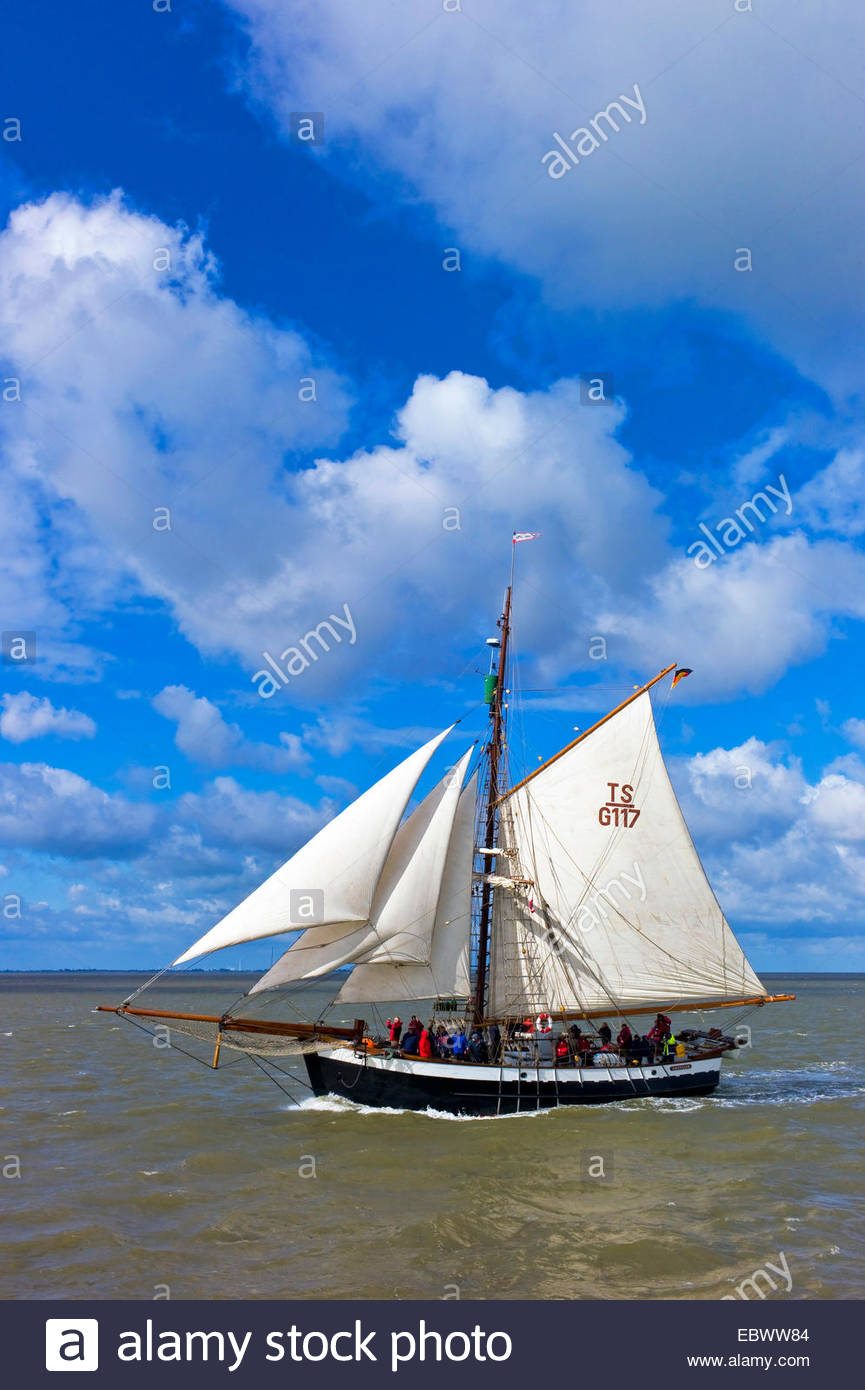 sailing ship Groenland, Germany, Bremen, Bremerhaven - Stock Image