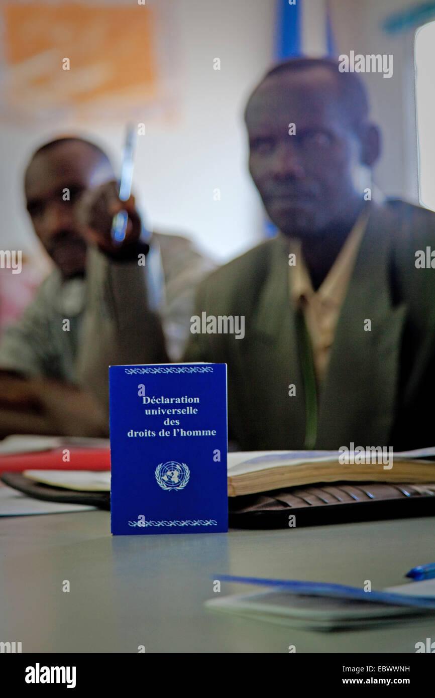 human rights workshop about the Universal Declaration of Human Rights , Burundi, Bujumbura Mairie, Bujumbura - Stock Image
