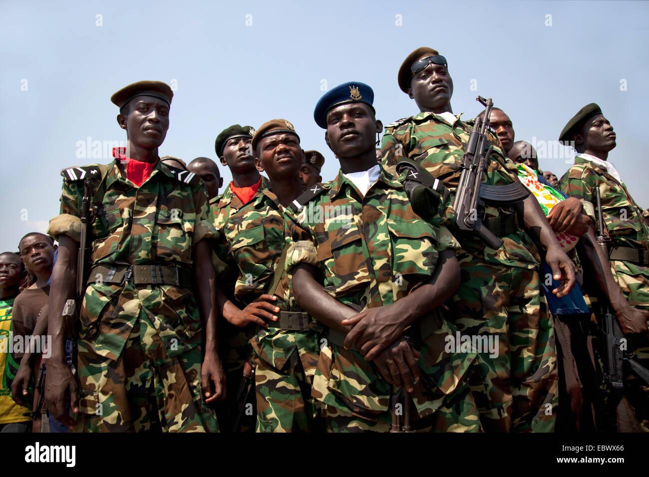 military parade at Independence Day (Juli 1), Burundi, Bujumbura Marie, Bujumbura - Stock Image