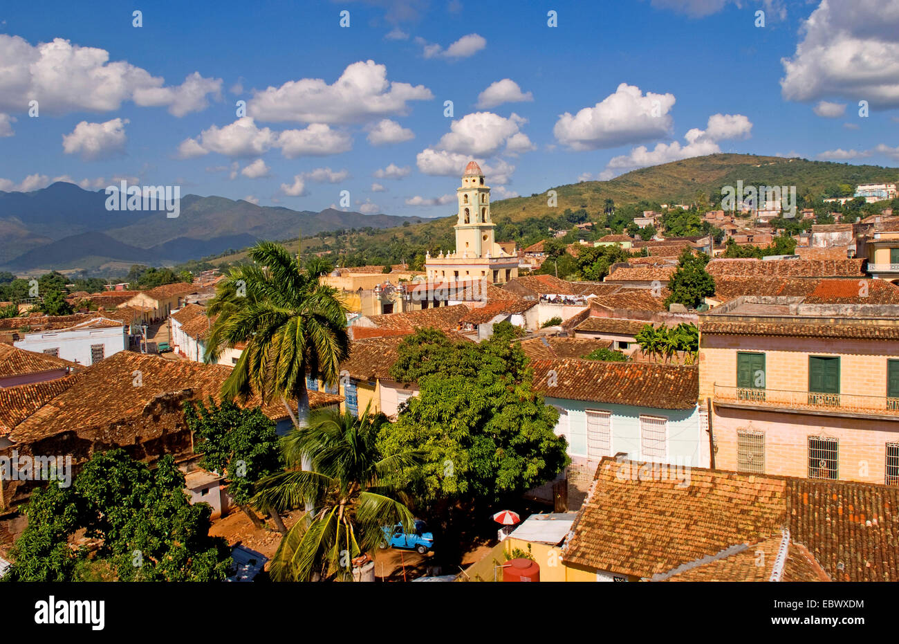 View from above of the old Colonial village of Trinidad, Cuba, Trinidad - Stock Image