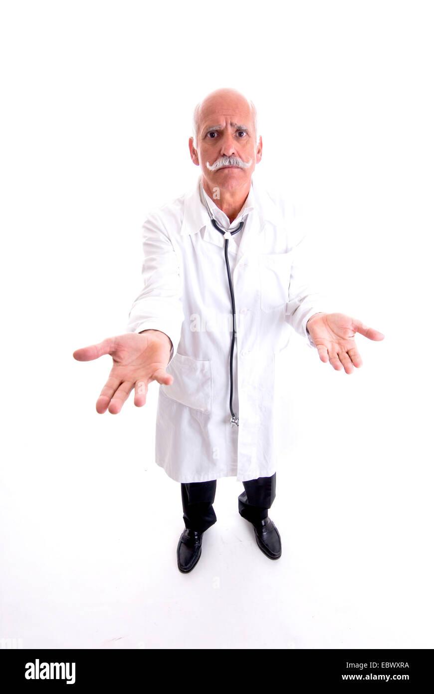 uncontent doctor, Vaihingen/Enz - Stock Image