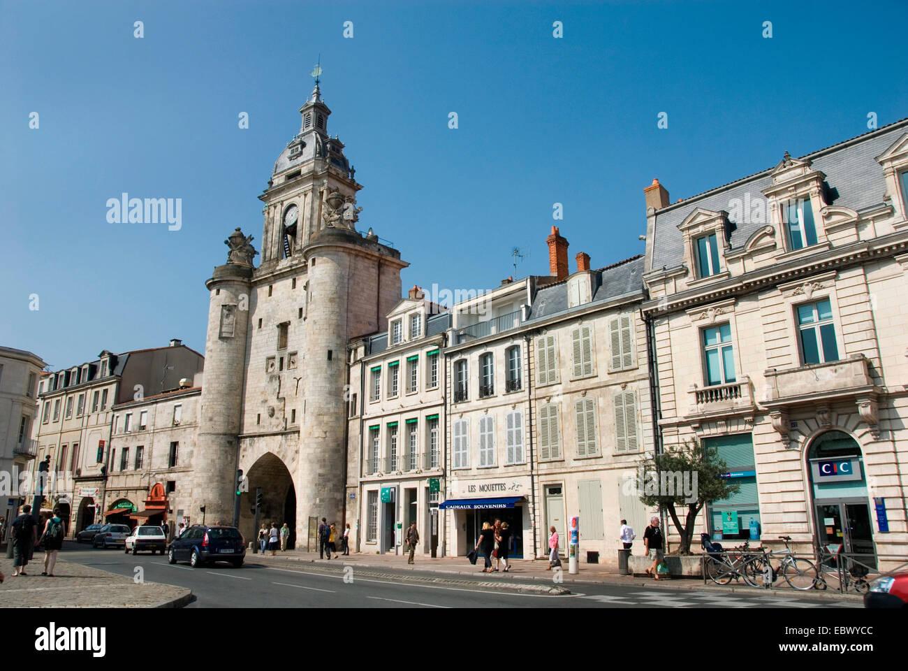 La Tour de la Grosse Horloge, France, Poitou-Vend�e, La Rochelle - Stock Image