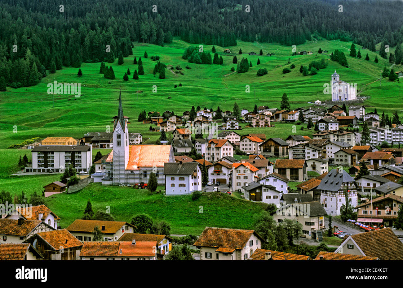 Mountain village Balzers in Liechtenstein, Liechtenstein, Balzers - Stock Image