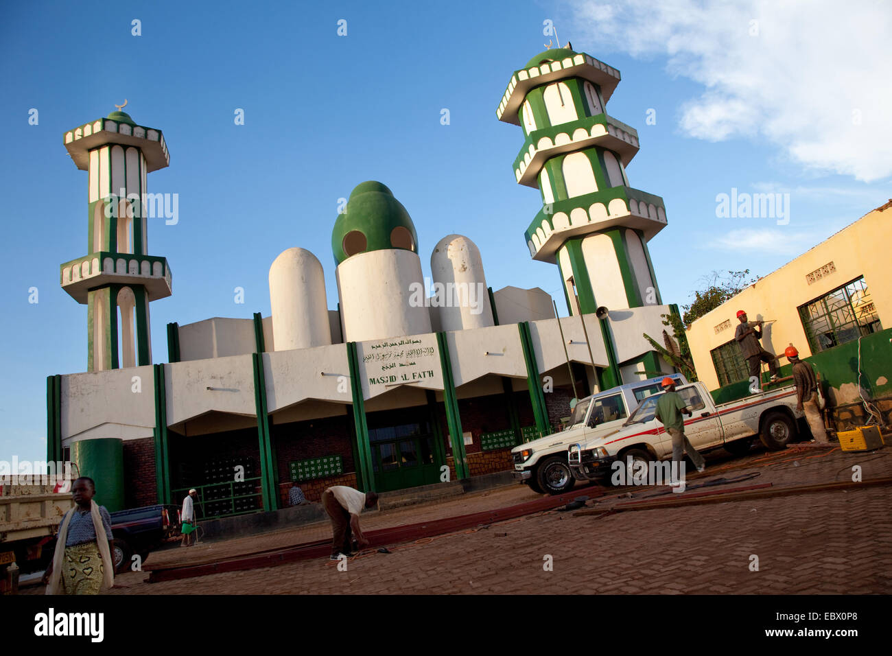 biggest Mosque of Nyamirambo, an area of Kigali where a larger number of Muslims live , Rwanda, Nyamirambo, Kigali - Stock Image