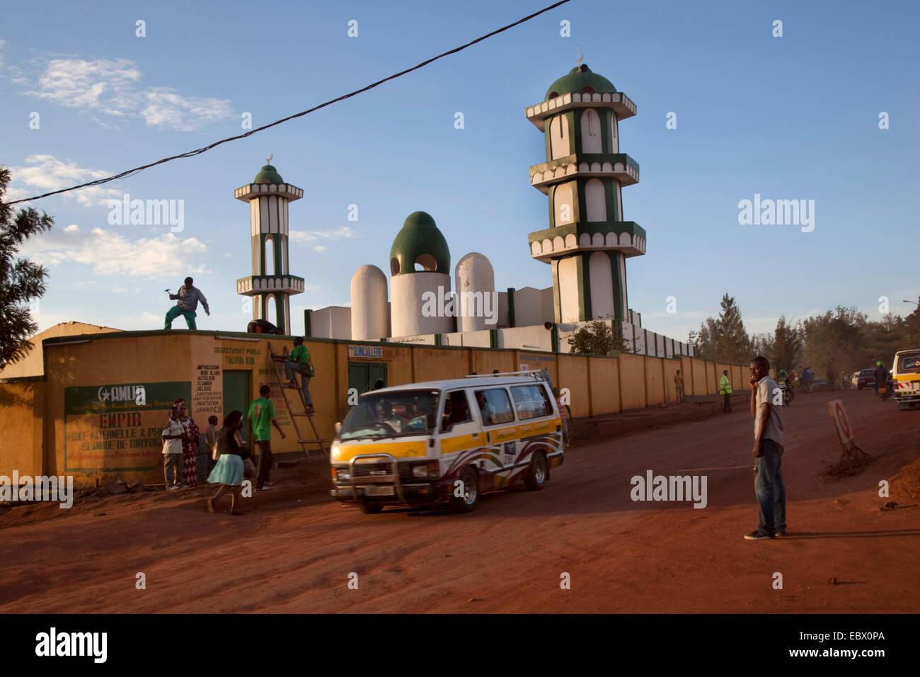 Mosque (the bigges) of Nyamirambo, an area of Kigali where a larger number of Muslims live, repair works are being - Stock Image